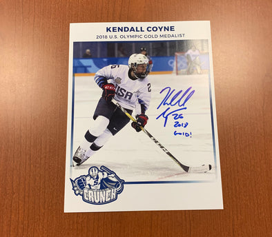 Kendall Coyne Signed Autograph Card