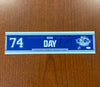 Autographed #74 Sean Day Road Nameplate - 2020-21