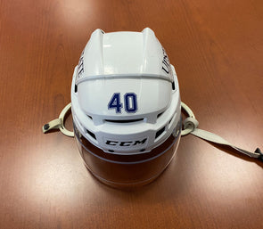 #40 Gabriel Dumont Game-Used White Helmet