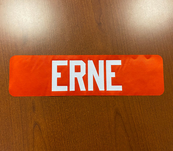 #73 Adam Erne Orange Name Bar