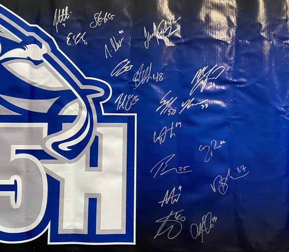 Autographed 'FIN15H' 2017 Calder Cup Playoffs Banner - Version 2