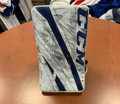 #35 Zach Fucale Game-Used Blocker - 2019-20