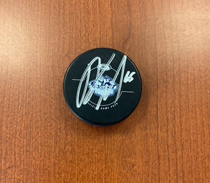 #65 Alex Gallant Autographed Game Puck - 2017-18