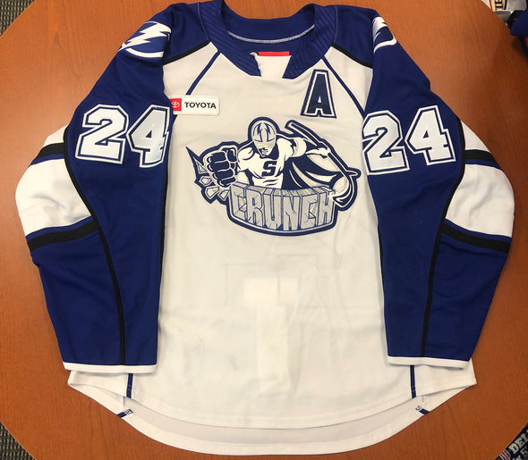 #24 Cameron Gaunce White Jersey - with 'A' - 2019-20