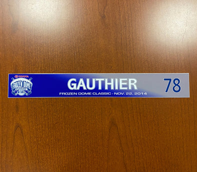 #78 Danick Gauthier Toyota Frozen Dome Classic Nameplate - November 22, 2014