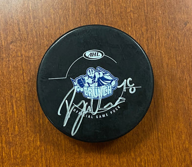 #78 Danick Gauthier Autographed Game Puck - 2012-13