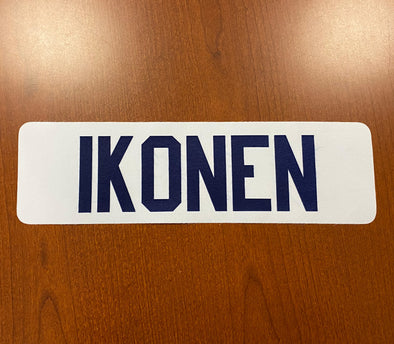 #57 Henri Ikonen White Name Bar