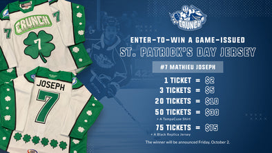 #7 Mathieu Joseph St. Patrick's Day Jersey Raffle - 20 for $10