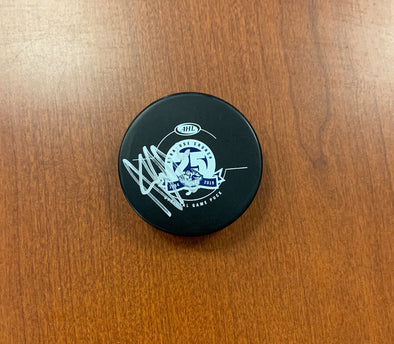 #6 Hubert Labrie Autographed Game Puck - 2018-19