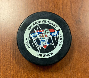 #17 David Ling Autographed 10th Anniversary Game Puck - 2003-04