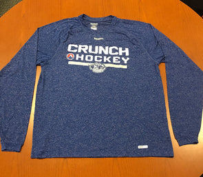 Team-Issued Long Sleeve Workout Shirt - Reebok - Heathered Blue