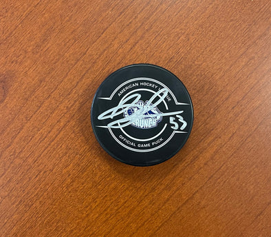 #53 John Ludvig Autographed Game Puck