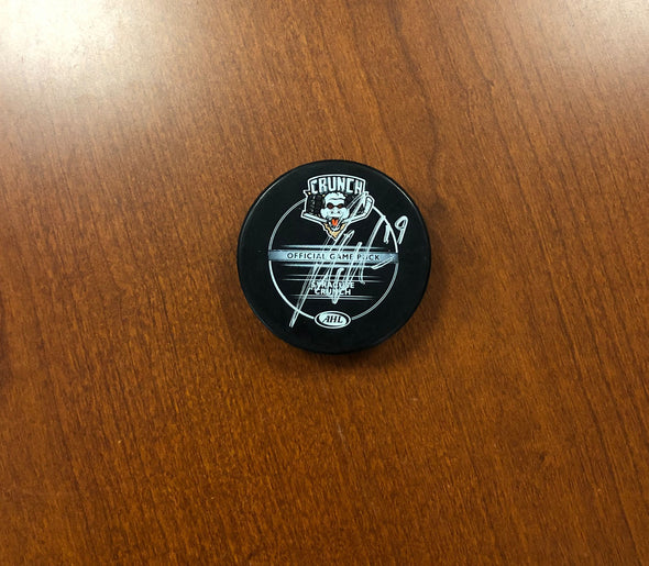 #19 Patrick Maroon Autographed Puck - 2011-12