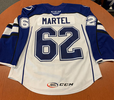 #62 Danick Martel White Jersey - 2019-20 - with 'A'