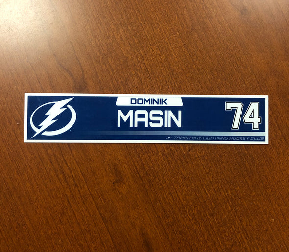 #74 Dominik Masin Tampa Bay Lightning Nameplate