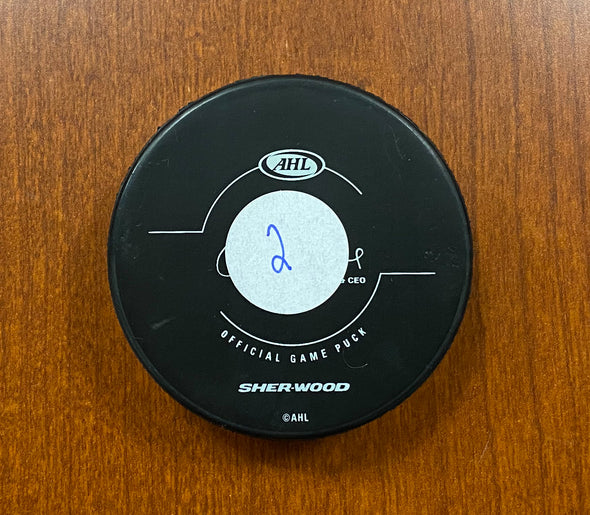 #2 Jamie McBain Autographed Game Puck - 2017-18