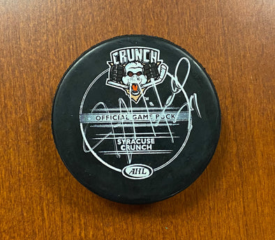 #24 John Mitchell Autographed Game Puck - 2010-11 or 2011-12