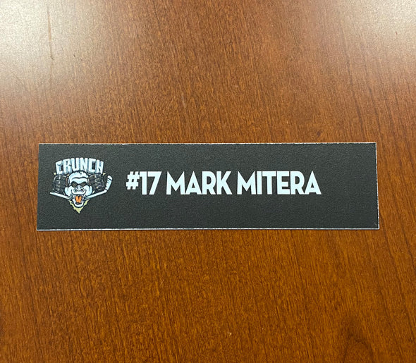#17 Mark Mitera Home Nameplate - 2010-11