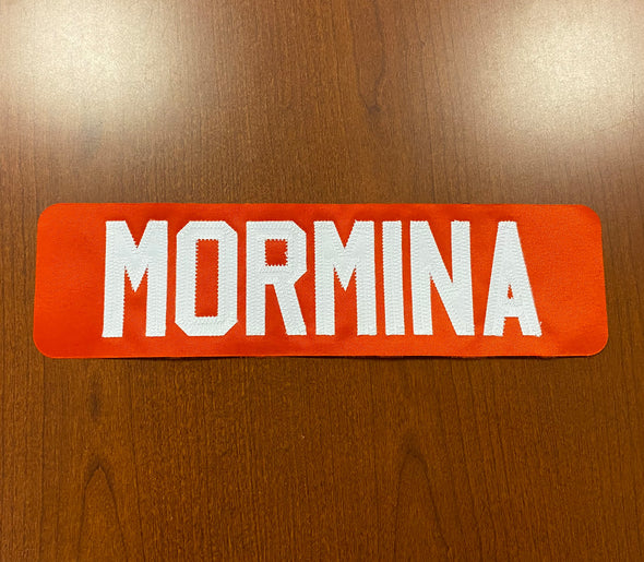 #3 Joey Mormina Orange Name Bar