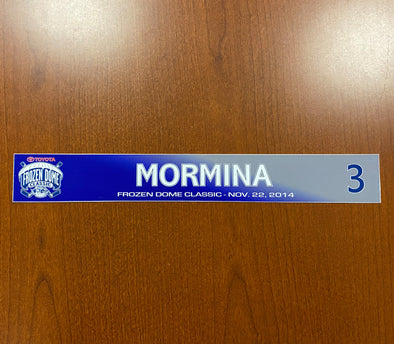#3 Joey Mormina Toyota Frozen Dome Classic Nameplate - November 22, 2014