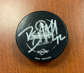 #42 Brett Motherwell Autographed Game Puck - 2007-08