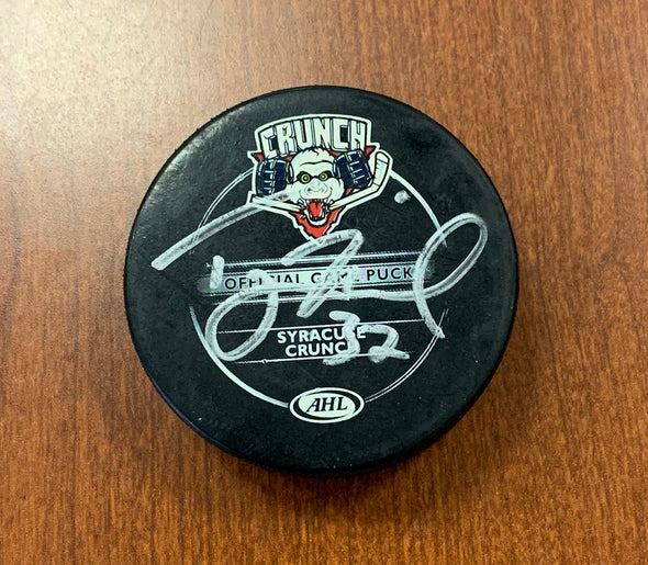 #32 Tyler Murovich Autographed Game Puck - 2009-10