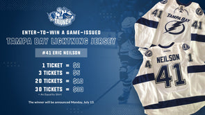 #41 Eric Neilson White Tampa Bay Jersey Raffle - 20 for $10