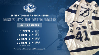 #41 Eric Neilson White Tampa Bay Jersey Raffle & Equality Tee Bundle
