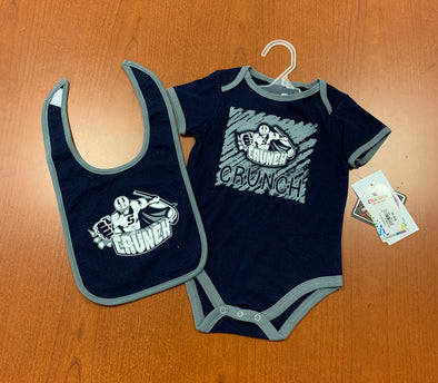 Infant Onesie & Bib Set - Navy Blue