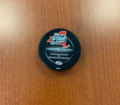 Official Game Puck - Mirabito Outdoor Classic - February 20, 2010