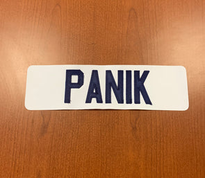 #14 Richard Panik White Name Bar