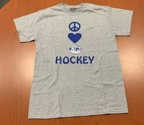 Peace, Love, Crunch Hockey Tee