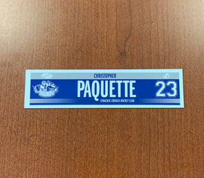 #23 Christopher Paquette Road Nameplate - 2018-19