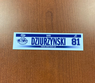 #81 David Dziurzynski Home Nameplate - 2017-18