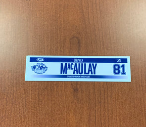 #81 Stephen MacAulay Home Nameplate - 2017-18