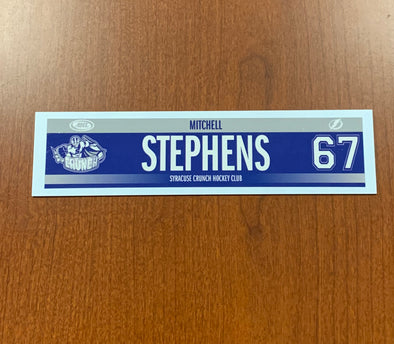 #67 Mitchell Stephens Road Nameplate - 2015-20
