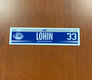 #33 Ryan Lohin Road Nameplate - 2018-19