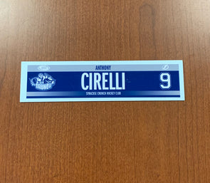 #9 Anthony Cirelli Road Nameplate