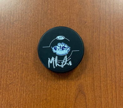 #78 Michael Bournival Signed Game Puck