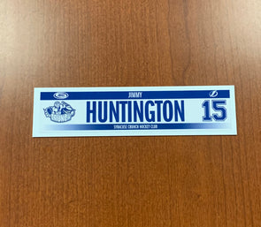 #15 Jimmy Huntington Home Nameplate - 2019-20