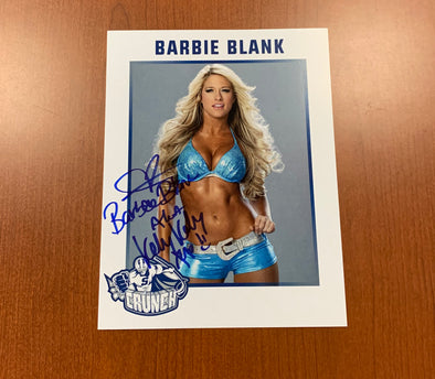 Barbie Blank - Kelly Kelly Signed Autograph Card