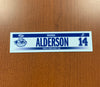 #14 Brandon Alderson Home Nameplate - 2016-17