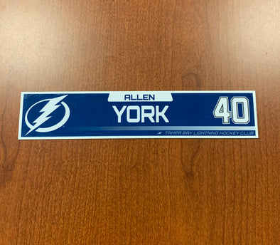 #40 Allen York Tampa Bay Lightning Nameplate