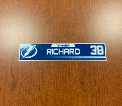 #38 Tanner Richard Tampa Bay Lightning Nameplate