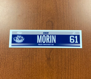 #61 Jeremy Morin Road Nameplate - 2016-17