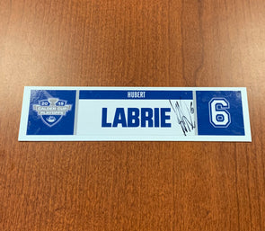 #6 Hubert Labrie Home Nameplate - 2019 Calder Cup Playoffs - SIGNED