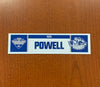 Strength & Conditioning Coach Mark Powell Nameplate - 2019 Calder Cup Playoffs