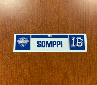 #16 Otto Somppi Home Nameplate - 2019 Calder Cup Playoffs