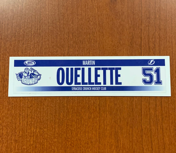 #51 Martin Ouellette Home Nameplate - 2018-19