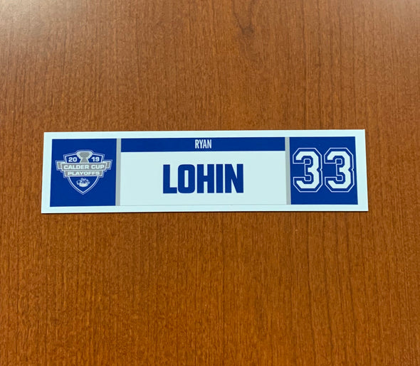 #33 Ryan Lohin Home Nameplate - 2019 Calder Cup Playoffs